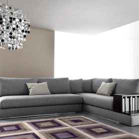 angular grey sofa